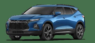 Blue Chevrolet Blazer