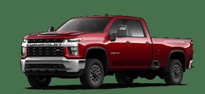 Red Chevrolet Silverado HD