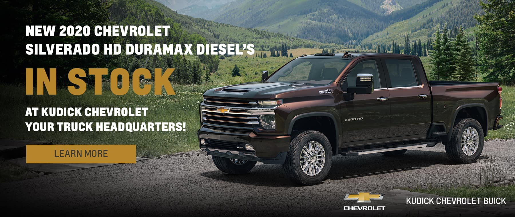 New 2020 Chevrolet Silverado HD Duramax Diesel's in stock at Kudick Chevrolet, your truck headquarters.