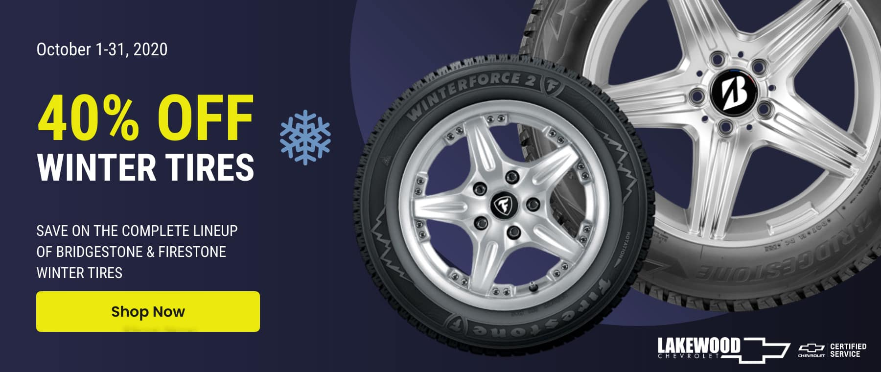 Lakewood Chevrolet Winter Tire Sale