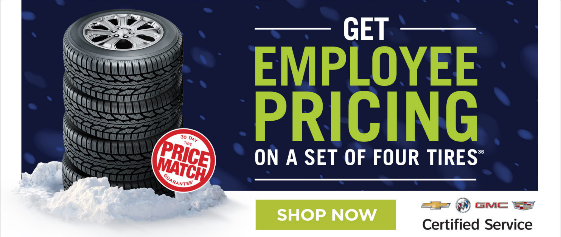 Employee Pricing on Tires