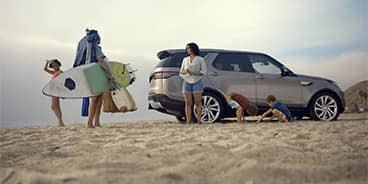 Land Rover Discovery at the Beach California
