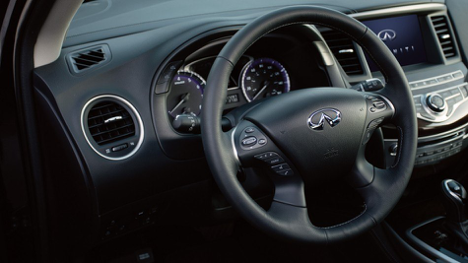 Steering Wheel of 2017 INFINITI QX60 AWD