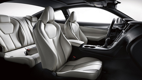 Seating in the 2017 Q60 3.0T at Markham Infiniti