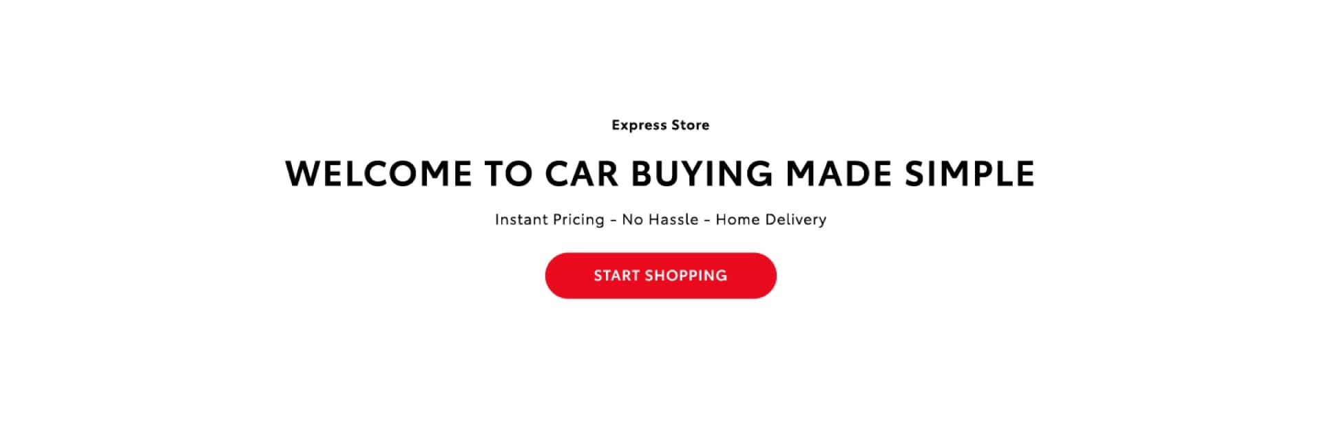 Banner for Express online car buying