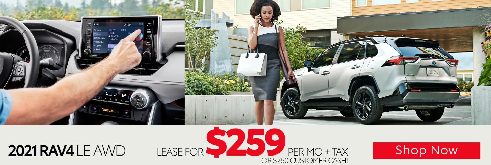 2021 Toyota RAV4 LE AWD lease offer