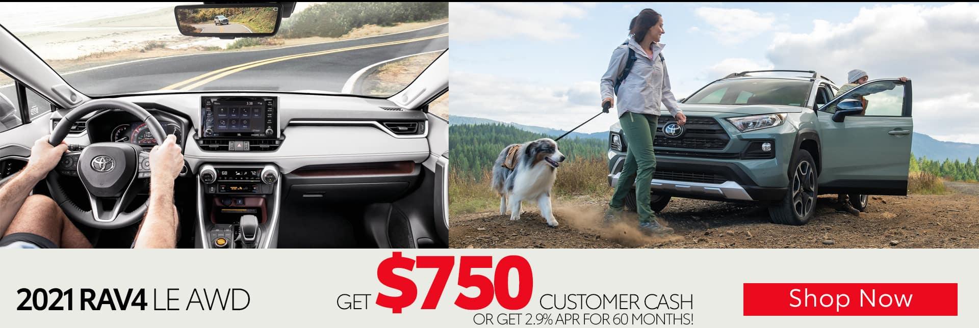 July RAV4 Get $750 Customer Cash