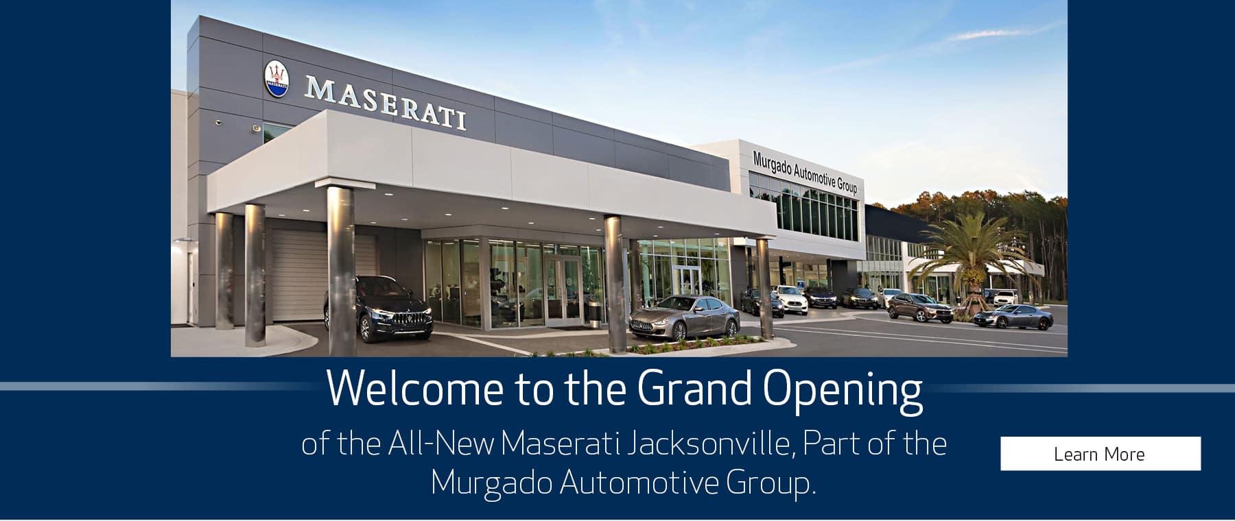 All New Maserati Jacksonville storefront