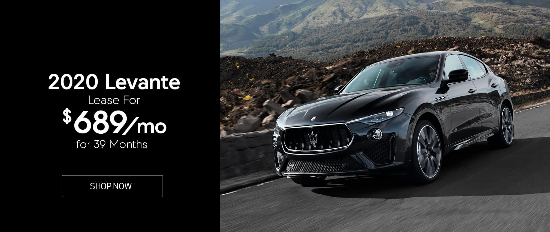 Black 2020 Maserati Levante
