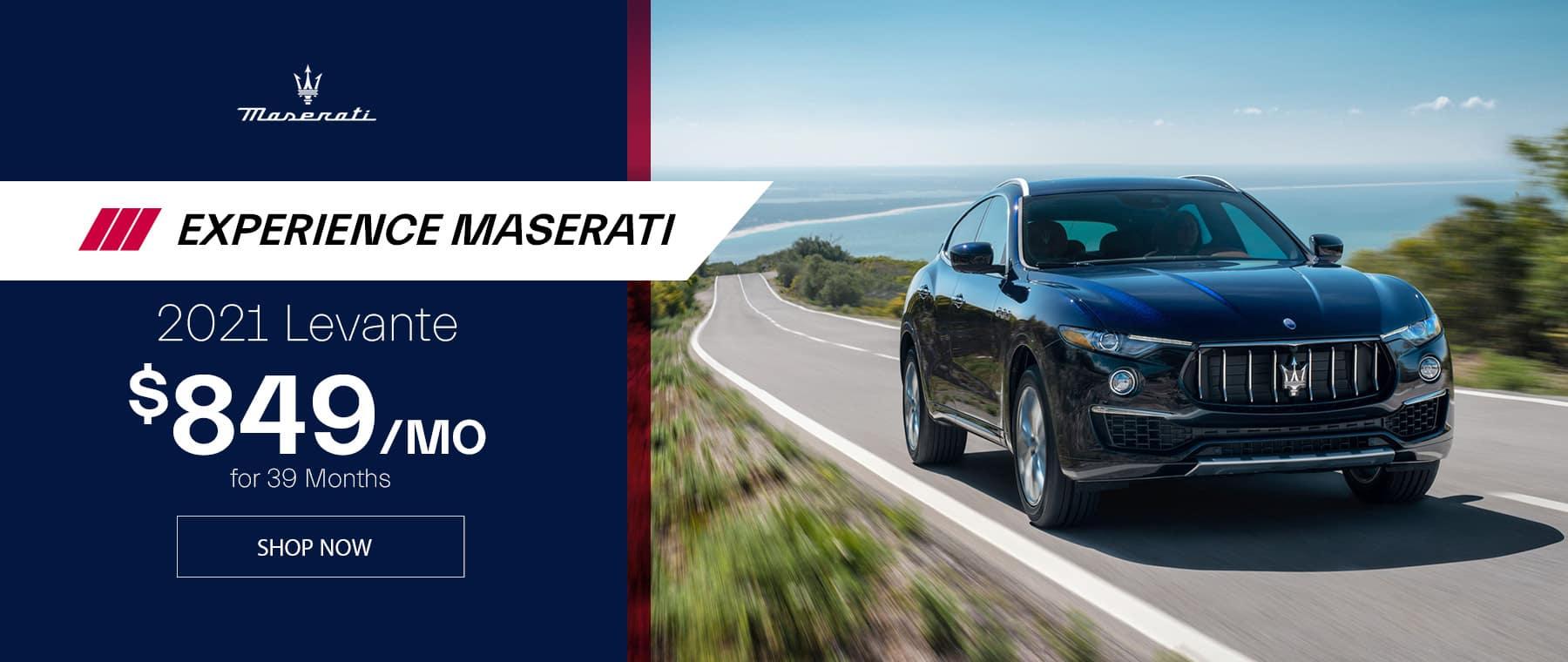 Black 2021 Maserati Levante S