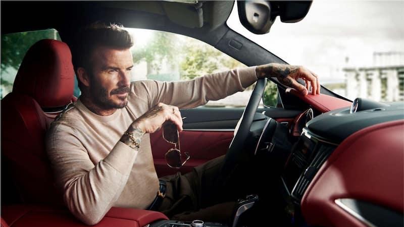 David Beckham in a Maserati