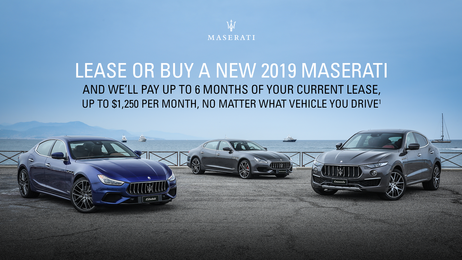 Lease or Buy a New 2019 Maserati