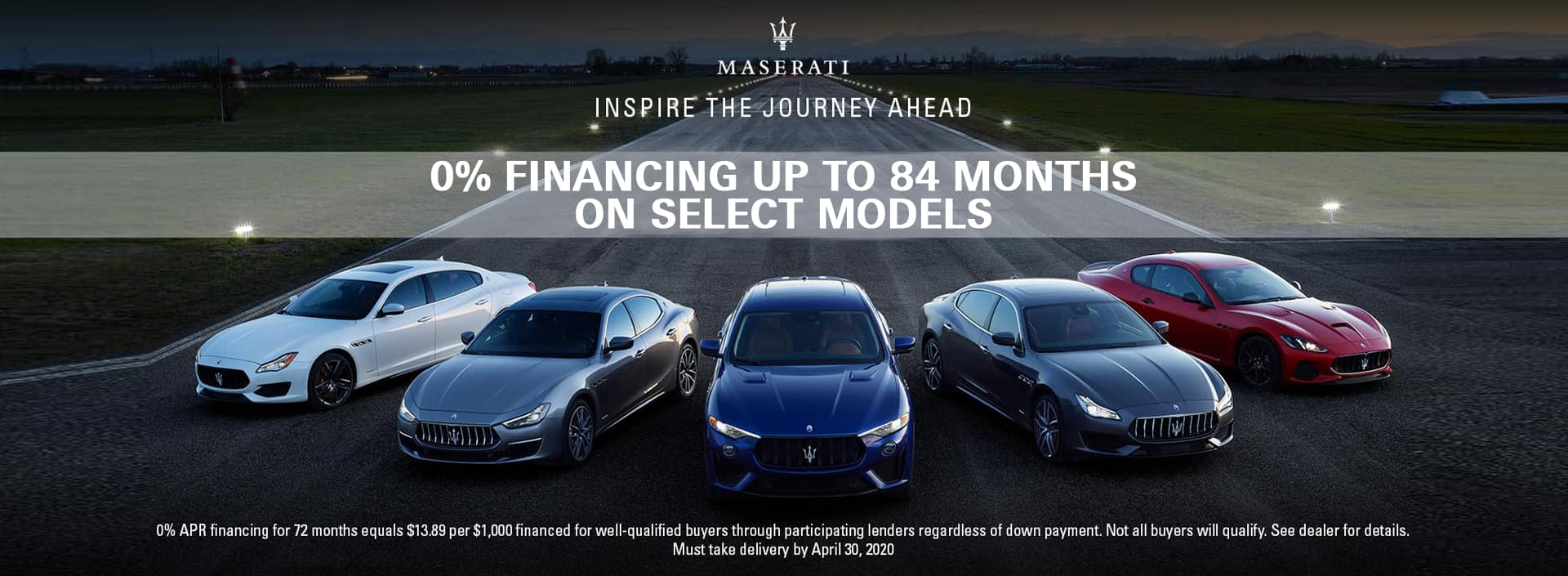 0 apr on maserati models