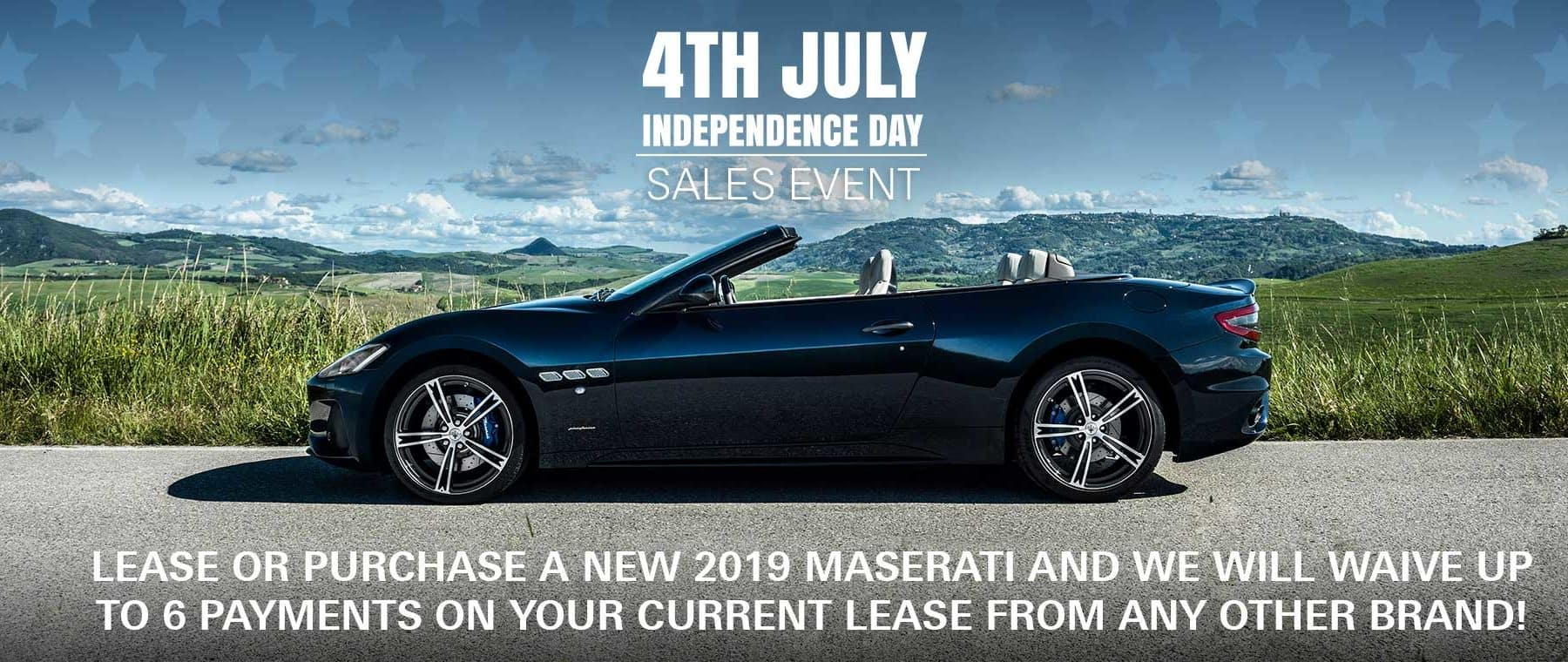 maserati 4rth of July sales event