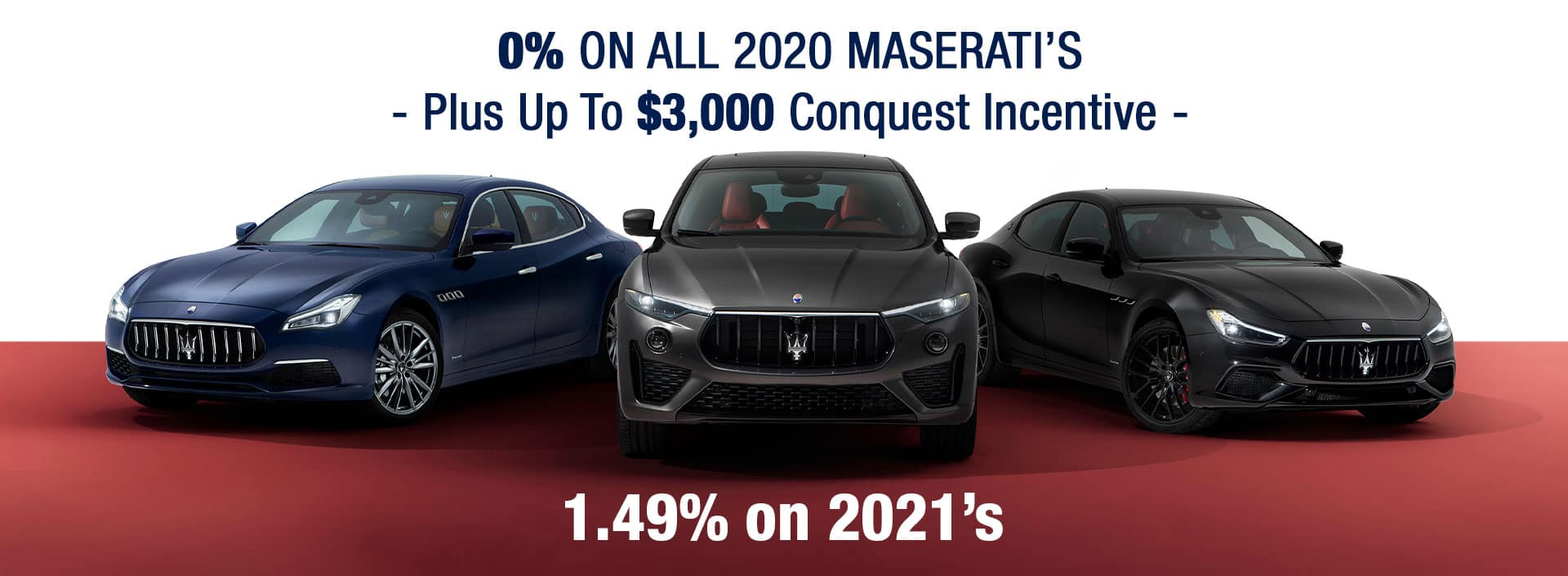 0% APR On All Maserati Special
