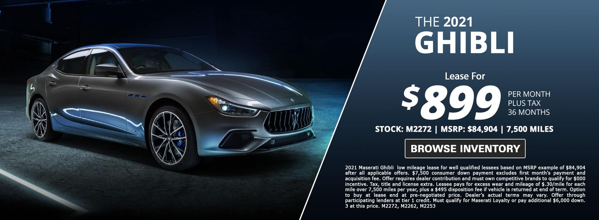maserati ghibli lease special for sale in city of industry