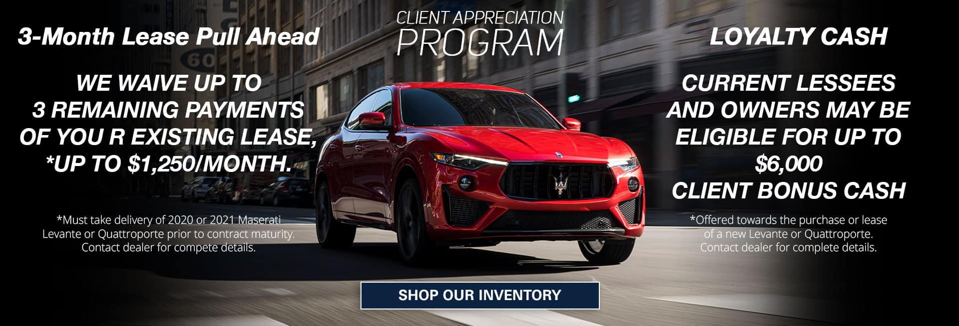 Maserati loyalty program offers
