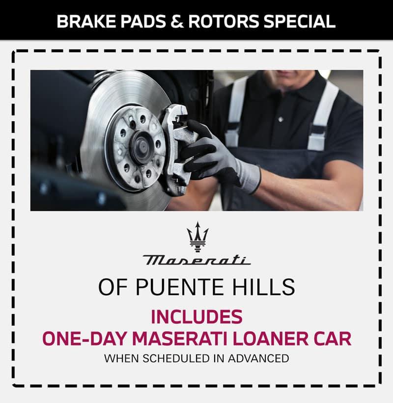 maserati brake pads & Rotor Special