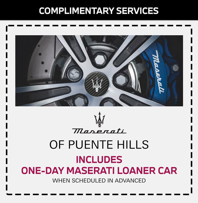 maserati complimentary services in city of los angeles