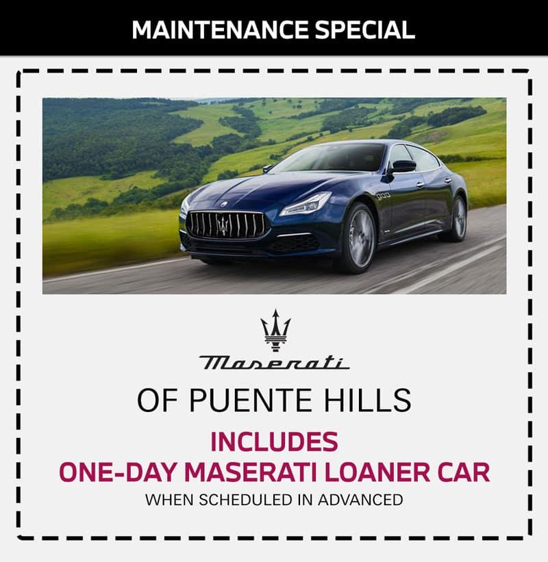 maserati maintenance service special