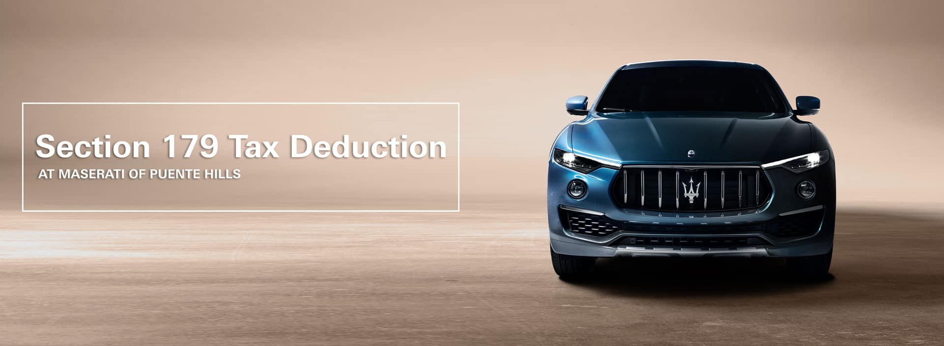 section 179 tax deduction for your maserati