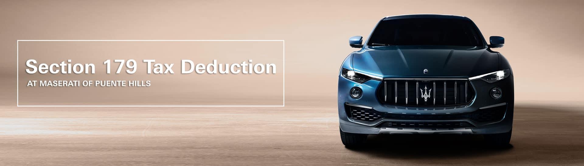 Section 179 Tax Deduction for Maserati Levante – Maserati Of Puente Hills