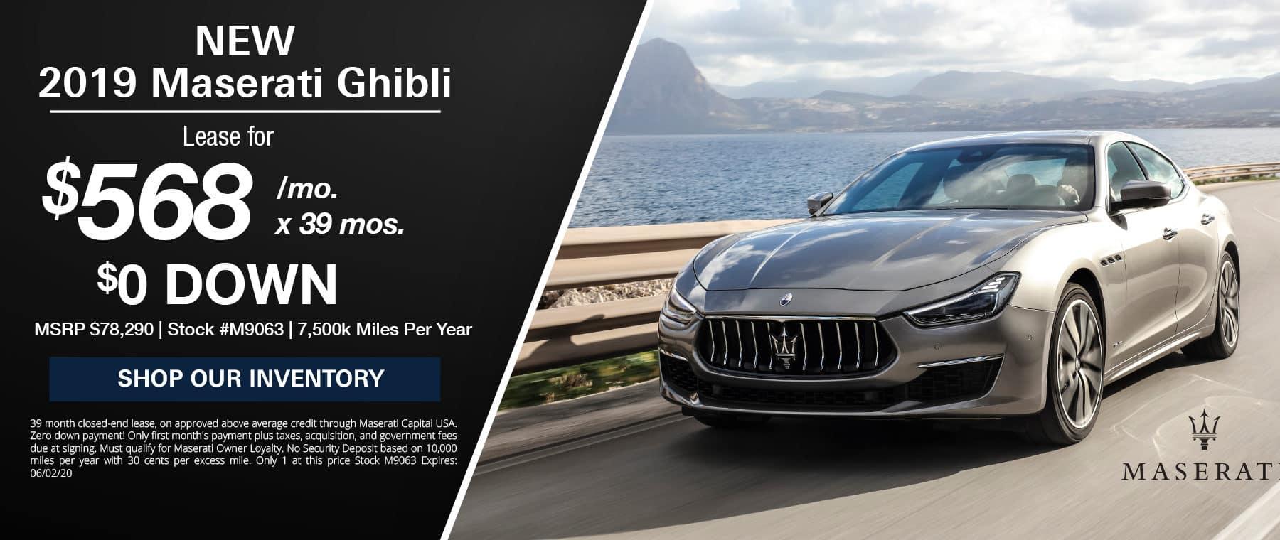 New Maserati Ghibli Lease Special