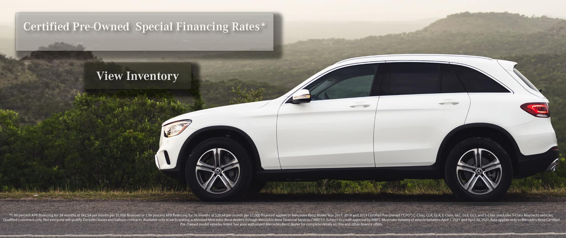 Mercedes-Benz Certified Pre Owned Financing Special