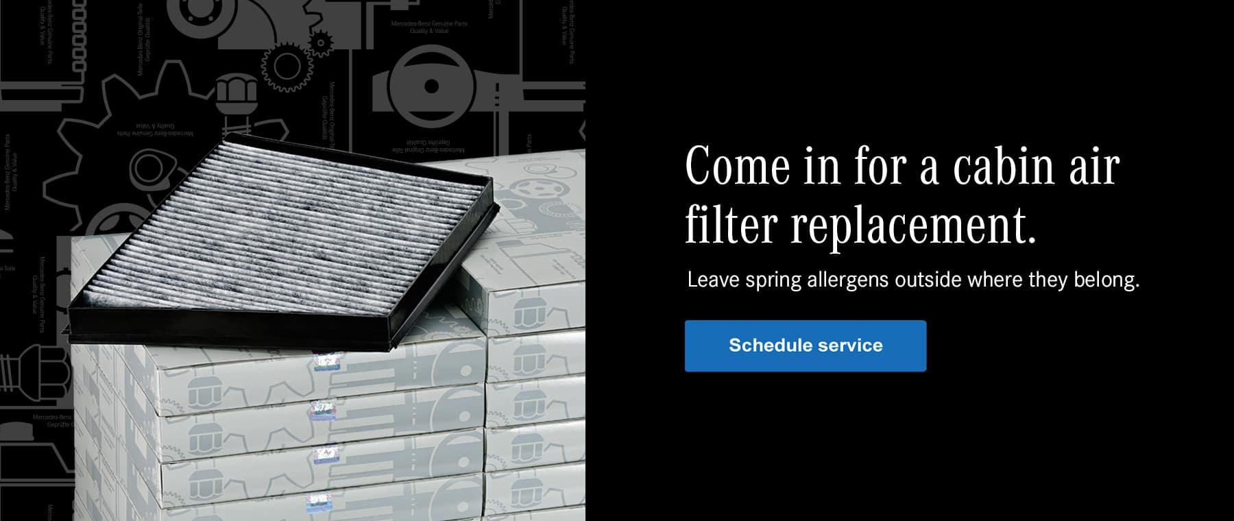 Mercedes-Benz air filter replacement