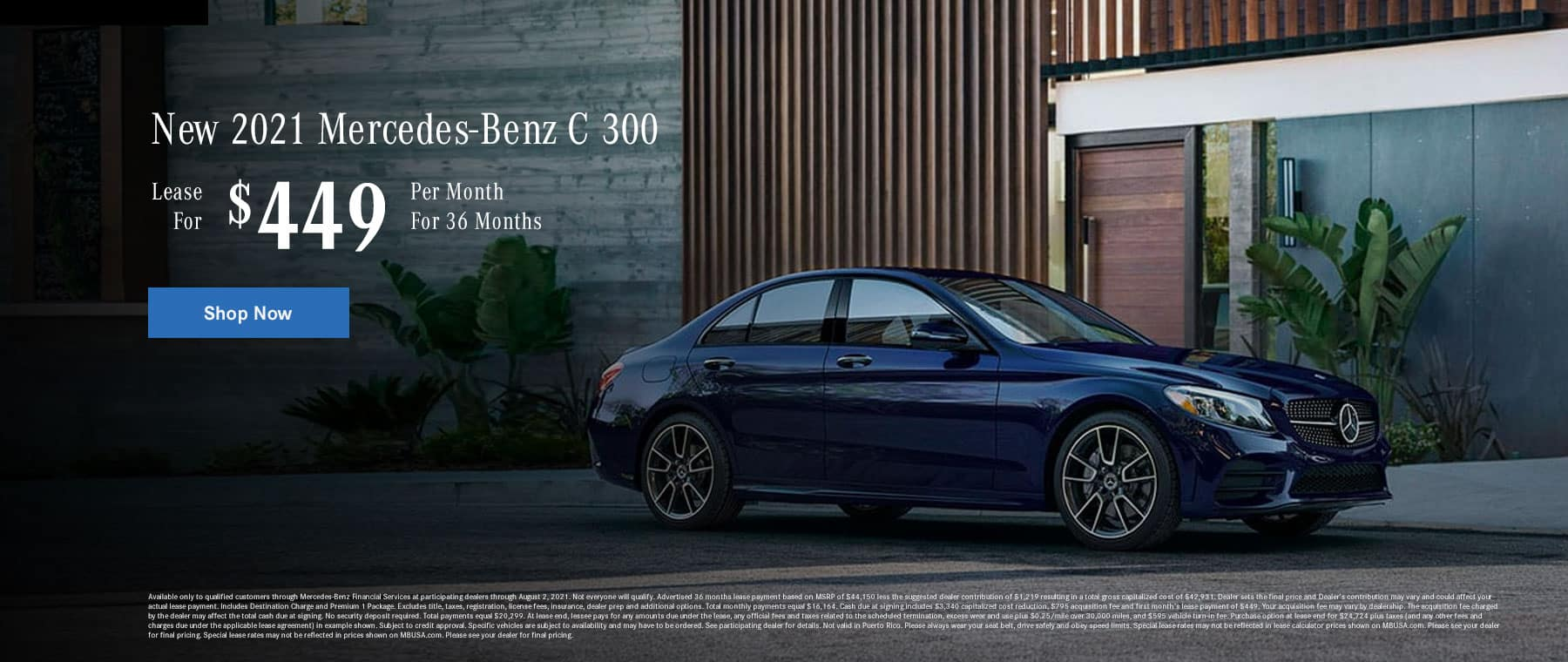 021 C 300 Sedan Lease for $449/36 months