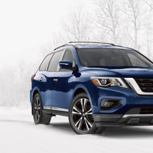2020 Nissan Pathfinder winter driving at Midway Nissan