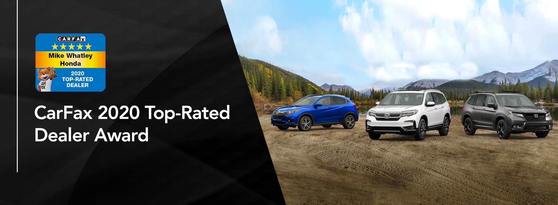 CarFax 2020 Top-Rated Dealer Award