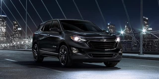 2020 Chevrolet Equinox Midnight Edition with 19 inch gloss black wheels