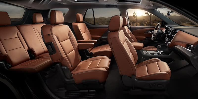 2020 Chevrolet Traverse interior seating and comfort