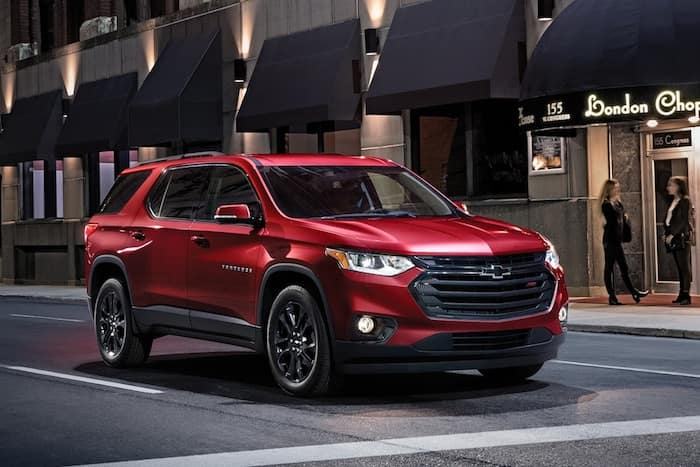 2020 Chevrolet Traverse RS model exterior