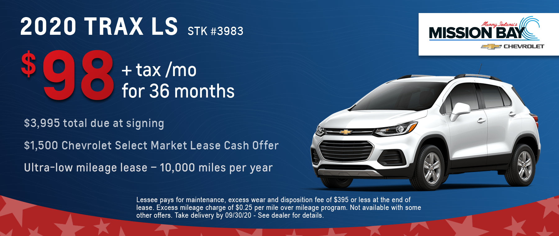 New 2020 Chevy Trax lease deals at San Diego Chevrolet dealership
