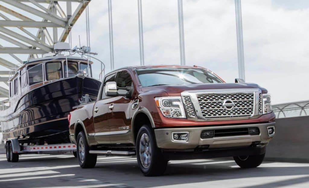 2019 nissan titian towing