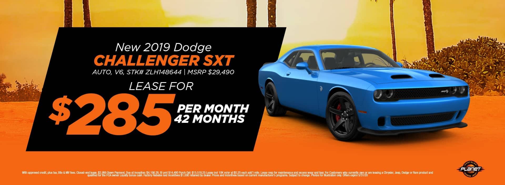banner for 2019 Challenger SXT