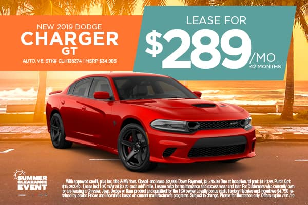 JULY 2019 DODGE CHARGER GT