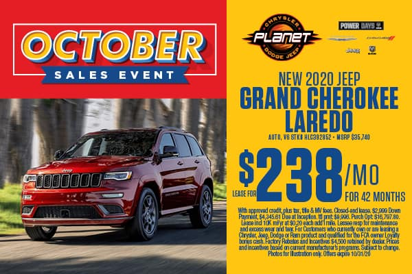 NEW 2020 GRAND CHEROKEE LAREDO