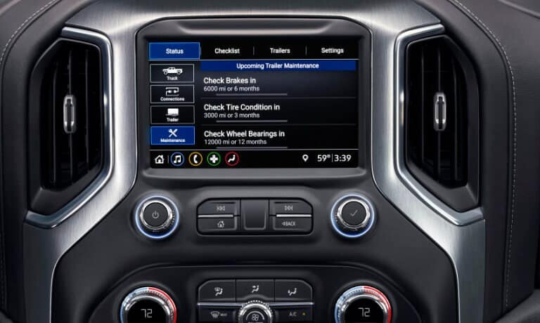 2020 GMC Sierra 1500 infotainment display