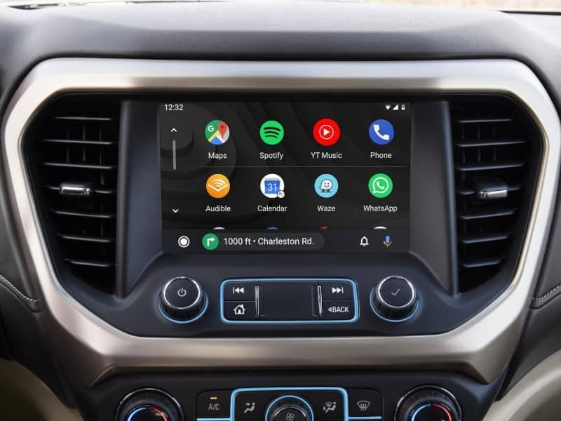 The dashboard on a 2020 GMC Denali Vehicle