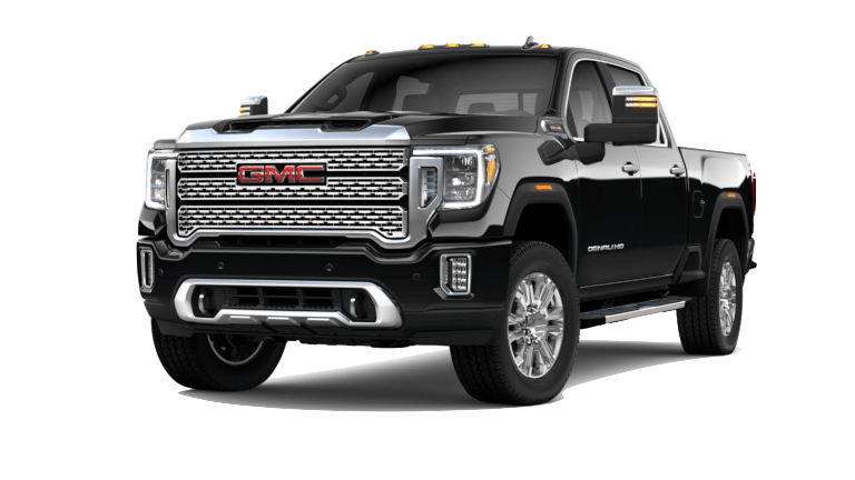 A black 2020 GMC Sierra HD Denali