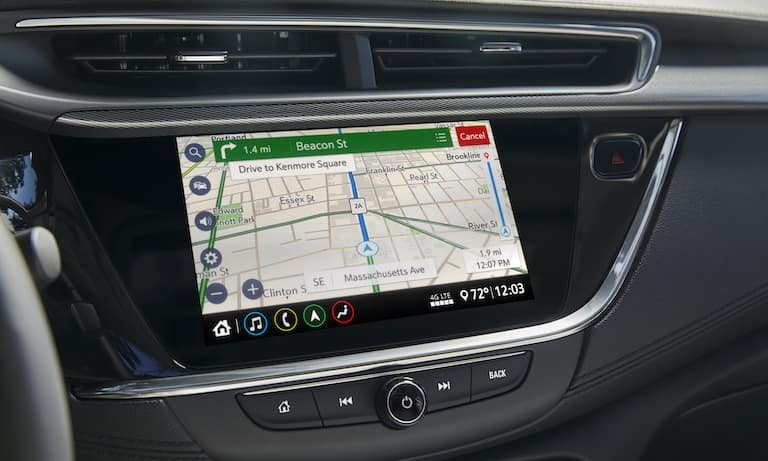The infotainment system on the 2020 Buick Encore GX