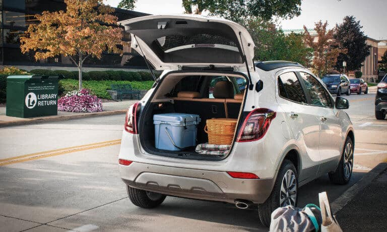 2020 Buick Encore with the trunk open