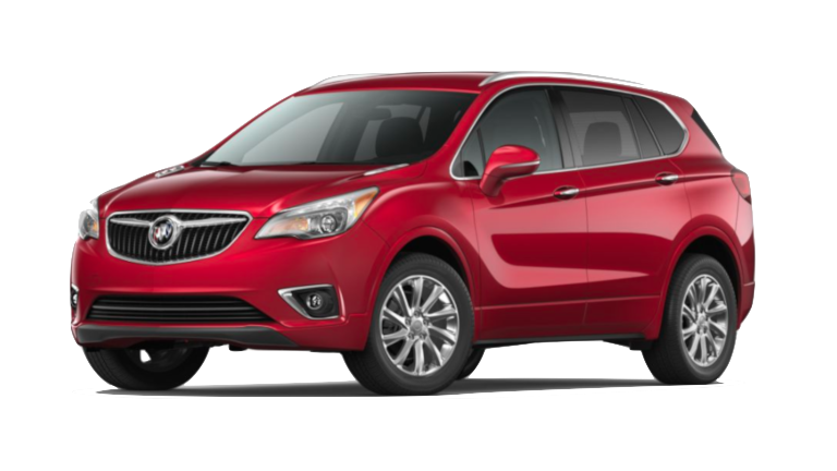 A red 2020 Buick Envision Essence