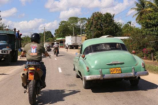 Motorcycle Ride In Cuba