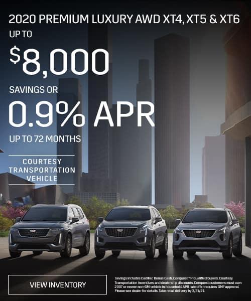 2020 Premium Luxury AWD XT4, XT5 & XT