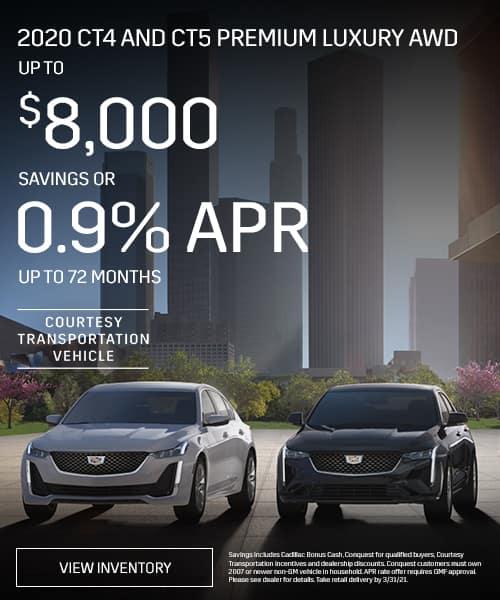 2020 CT4 and CT5 Premium Luxury AWD