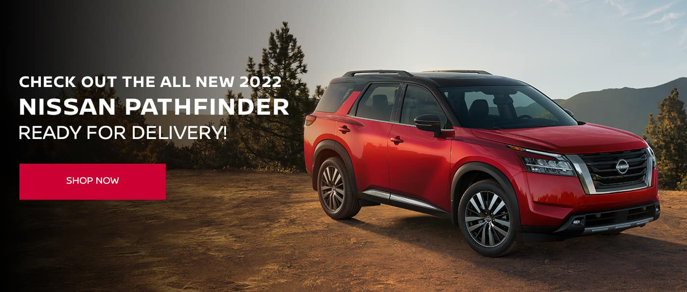 Check out the all new 2022 Nissan Pathfinder, Ready for delivery!
